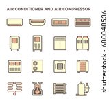 vector icon of air conditioner... | Shutterstock .eps vector #680048536
