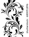 outline floral seamless pattern.... | Shutterstock .eps vector #680051896
