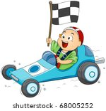 illustration of a little boy... | Shutterstock .eps vector #68005252