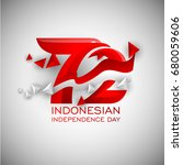 72 years of indonesian... | Shutterstock .eps vector #680059606