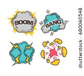 bang and boom colorful cartoon...   Shutterstock .eps vector #680060548