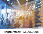 double exposure trading growth... | Shutterstock . vector #680060608