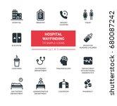 hospital wayfinding   set of...   Shutterstock .eps vector #680087242