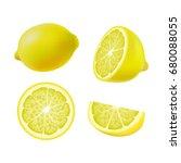 set of isolated colored lemons  ...   Shutterstock .eps vector #680088055