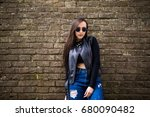 an outdoor portrait of a young... | Shutterstock . vector #680090482