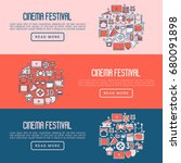 cinema festival concept with... | Shutterstock .eps vector #680091898