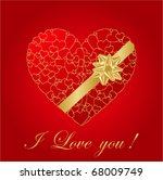 heart valentines day background | Shutterstock .eps vector #68009749