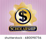 shiny emblem with money icon...   Shutterstock .eps vector #680098756