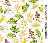 cereals seamless pattern of...   Shutterstock .eps vector #680099455