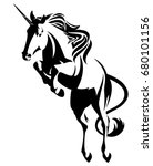 jumping unicorn    mythical... | Shutterstock . vector #680101156