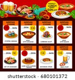 german cuisine menu or price... | Shutterstock .eps vector #680101372