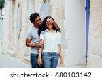 beautiful dark skin woman... | Shutterstock . vector #680103142