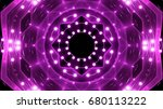purple floodlights background | Shutterstock . vector #680113222