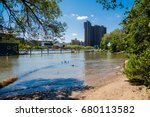 Small photo of Swindler Cove ,The Harlem River ,New York / Swindler Cove park ,The Harlem River New York / The Harlem River and Swindler Cove New York.