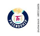 to friendship. banner  badge ... | Shutterstock .eps vector #680116606