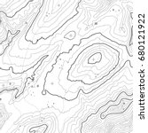 seamless pattern. topographic... | Shutterstock .eps vector #680121922