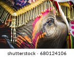 thai people painting on body of ... | Shutterstock . vector #680124106