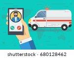 vector medical illustration of... | Shutterstock .eps vector #680128462