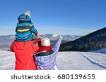 father  mother and children are ... | Shutterstock . vector #680139655
