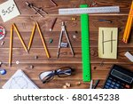 text math composed of pencils ... | Shutterstock . vector #680145238
