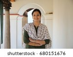 traditional young indian woman... | Shutterstock . vector #680151676