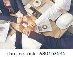 success partnership concept. ...   Shutterstock . vector #680153545
