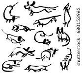 Hand Drawn Doodle Dachshund...