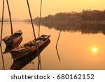 morning atmosphere mekong river ... | Shutterstock . vector #680162152
