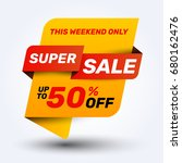 sale discount banner design... | Shutterstock .eps vector #680162476
