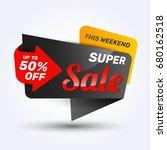 sale discount banner design... | Shutterstock .eps vector #680162518