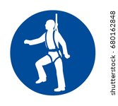 harness safety sign | Shutterstock . vector #680162848