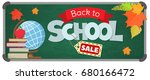 blackboard with greeting  first ...   Shutterstock .eps vector #680166472