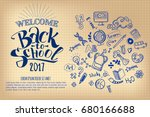 back to school notebook sheet... | Shutterstock .eps vector #680166688