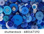 many different blue buttons... | Shutterstock . vector #680167192