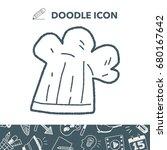 doodle chef hat | Shutterstock .eps vector #680167642