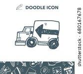 truck doodle | Shutterstock .eps vector #680167678