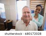 portrait of smiling senior male ... | Shutterstock . vector #680172028