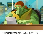 Angry Troll Using A Computer I...
