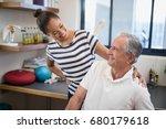 smiling female doctor looking... | Shutterstock . vector #680179618