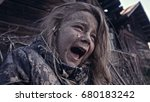 a hungry homeless child cries.... | Shutterstock . vector #680183242