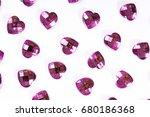 rhinestone background. heart... | Shutterstock . vector #680186368