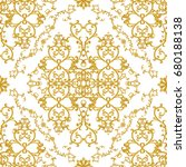 seamless pattern. golden... | Shutterstock . vector #680188138