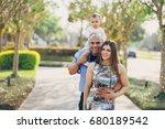 family on a walk | Shutterstock . vector #680189542