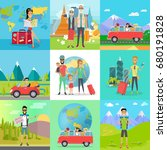 set of traveling concepts. flat ... | Shutterstock . vector #680191828