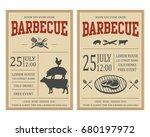 vintage barbecue invitation... | Shutterstock . vector #680197972