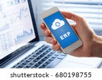 erp  enterprise resource... | Shutterstock . vector #680198755