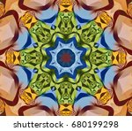 abstract decorative gold... | Shutterstock . vector #680199298