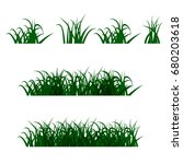 green grass  isolated on white... | Shutterstock . vector #680203618