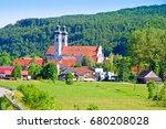 view on monastery of zwiefalten ... | Shutterstock . vector #680208028