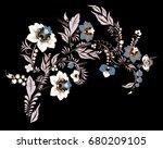 stock vector abstract hand draw ... | Shutterstock .eps vector #680209105